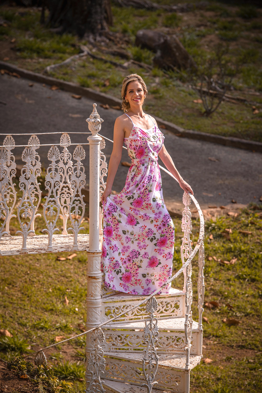 moda feminina, vestido floral estilo boho, coleção primavera verão, maranata moda
